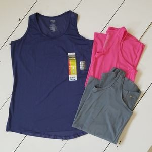 Set/3 Danskin Now Performance Active Tops